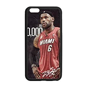 Custom James Lebron Design TPU Snap On Case Cover Shell Protector For iphone 6 plus (5.5 inch)