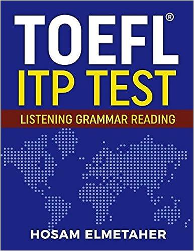 TOEFL ® ITP TEST: Listening, Grammar & Reading: Amazon co uk