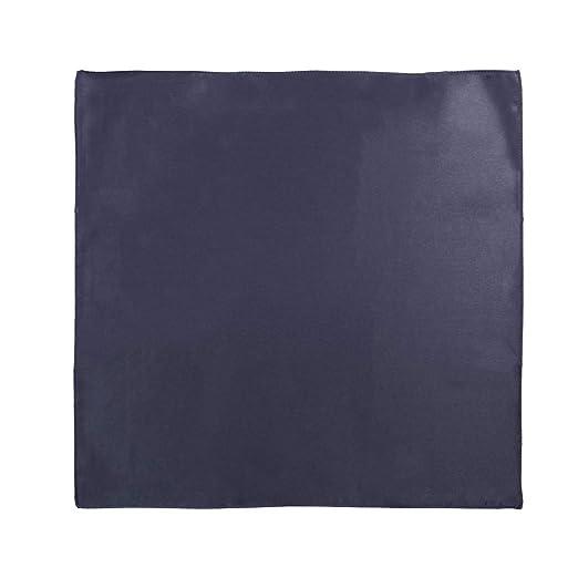 Dan Smith C.C.Y.A.027 Dim Grey Plain Fabric Pocket Square Woven Microfiber Comfort Mens Handkerchief