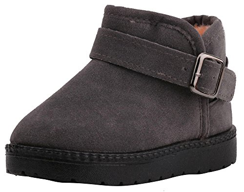 LONSOEN Kids Pull-on Winter Fur Ankle Boots(Toddler)