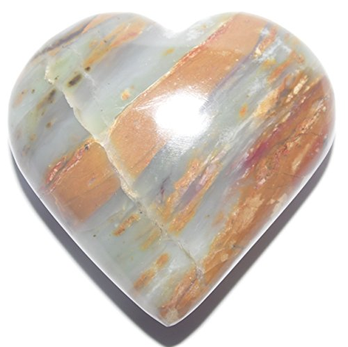 Authentic Peruvian Andean Opal Mineral Carved as a Heart - 3.4 ounces - 2.12 x 2.17 x 0.94 inches