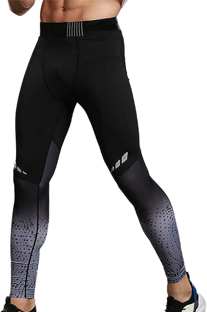 Legging Gymnastique Elastique pour Homme Thermique Pantalon de Compression Collant Dentra/înement Respirant V/êtements Sport