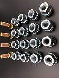 Yamaha ATV Wheel Studs W/ 16 New 17mm OEM Style Tusk Lug Nuts