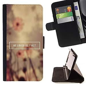 Momo Phone Case / Flip Funda de Cuero Case Cover - BIBLIA ?l nos amó primero; - Sony Xperia M2