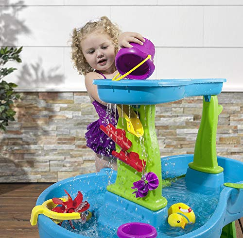 51PyO3hjwxL - Step2 Rain Showers Splash Pond Water Table | Kids Water Play Table with 13-Pc Accessory Set