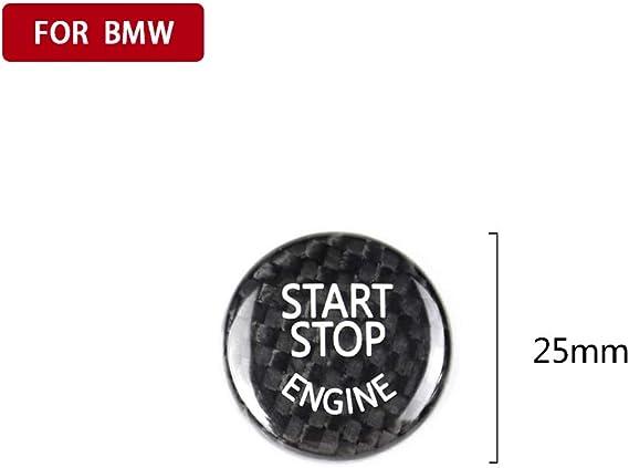 beler Engine Start Stop Button Switch Trim Carbon Fiber
