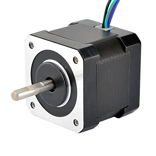 STEPPERONLINE Nema 17 Stepping Motor Bipolar 0.85A 51oz.in 4 Wires Stepper Motor for 3D Printer/Engraving Machine by STEPPERONLINE