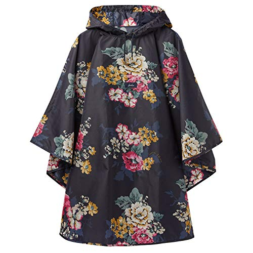 Joules Women's 30th Anniversary Poncho Rain Cover-Up (Cam Floral) (Best Rain Poncho 2019)