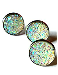 20pairs/pack, Mothers Day Gifts Fashion Jewelry druzy Crystal Stud Earrings for Teen Girls