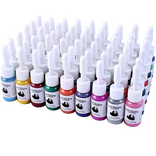 Tatooine 54 Colors Tattoo Ink Set Pigment Kit Tattoo Paints Tattoo Supply for Tattoo Kit-5ml
