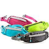 Fanny Packs for Women - Slim Yet Spacious Waist Pack w/ Multiple Compartments and Headphone Cord Access - Lightweight Fannie Belt Hip Bag Great for Hiking, Walking, Biking, Running, Travel, & More