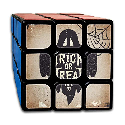 ZISHANG 3x3 Rubik Cube Halloween Ghost Trick-or-Treat Smooth Magic Cube Sequential Puzzle,ABS Eco-Friendly Plastics