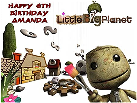 Phenomenal A4 Little Big Planet Sackboy Personalised Edible Icing Birthday Birthday Cards Printable Riciscafe Filternl