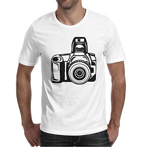 Men's T Shirts Cute Camera Clipart Novelty Men O-Neck Short Sleeve Cotton T Shirt