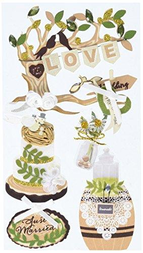 JOLEES 50-51026 Boutique Dimensional Stickers, Outdoor Wedding, Multicolor ()