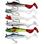 YODOOLTLY 5 Pcs Fishing Lures Set Lead Head Soft Baits