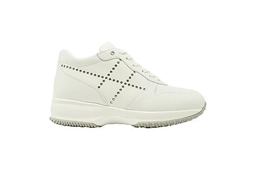 HOGAN Scarpe Donna INTERACTIVE HXW00N0K070KLAB001 Sneakers Pelle Bianco