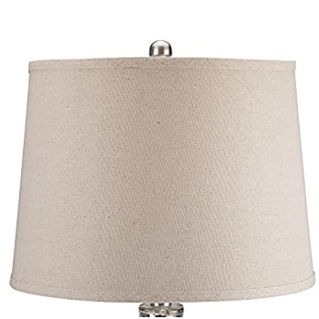 Catalina Lighting 19560-000 Transitional Mercury Glass Table Lamp, Without Bulb, Silver