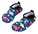 Toddler Boys Water Shoes Babys Skin Swim Shoes Child Quick Drying Barefoot Aqua Socks for Girls Pool Beach Lightweight Dinosaur Summer HDKL 24-25