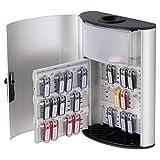 Key Box Plus, 54-Key, Brushed Aluminum, Silver, 11 3/4 x 4 5/8 x 15 1/2