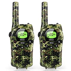 Walkie Talkies for Kids, the Top Gifts and Toys for Boys and Girls Featuring 22 channels and a remarkable 3-mile distance range, kids can now carry on long distance top-secret conversations. By encouraging outdoor play, these kids walkie talk...