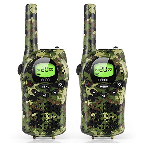 Kids Walkie Talkies, UOKOO Walkie Talkies for Kids 22 Channel FRS/GMRS Two Way...