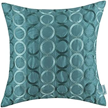 Amazoncom CaliTime Faux Silk Throw Pillow Cover Case for Couch