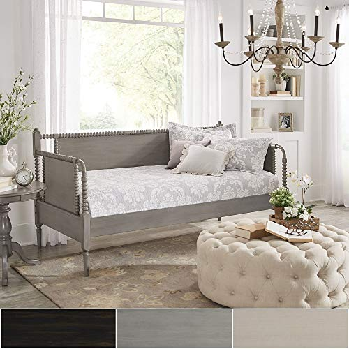 Traditional Wood Daybed (Inspire Q Dane Traditional Beaded Wood Daybed and Trundle by Classic Black)