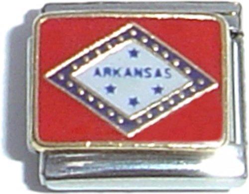 Arkansas Italian Charm - Arkansas State Flag Italian Charm