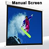 Pro 119'' Manual Projector Screen 84X 84'' Pull Down Projection Home Movie Theater