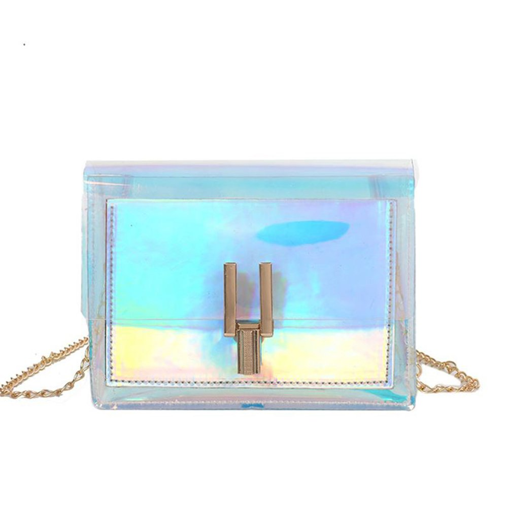 CILLA Mini Hologram Clear Cross Body Purse Shoulder Bag Handbag for Women