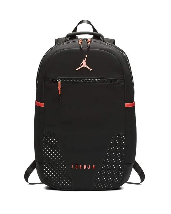 Nike Air Jordan Retro 6 Backpack (One Size, Black/Infrared ...