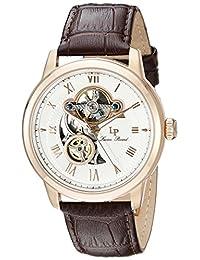 Lucien Piccard Men's LP-12524-RG-02-BRW Optima Analog Display Automatic Self Wind Brown Watch
