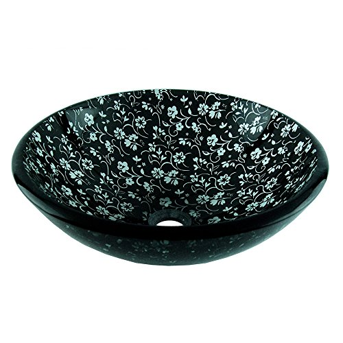 Fontaine Black Chantilly Glass Vessel Sink Fontaine Glass Vessel Sink