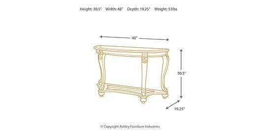 Amazon.com: Ashley Furniture Signature Design - Norcastle Glass ...