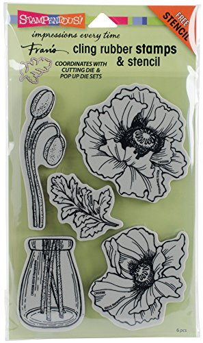 (STAMPENDOUS Pretty Poppies Stamps)