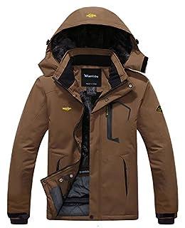 Wantdo Men's Waterproof Mountain Jacket Fleece Windproof Ski Jacket US M Coffee M (B00OA1C3DM) | Amazon price tracker / tracking, Amazon price history charts, Amazon price watches, Amazon price drop alerts