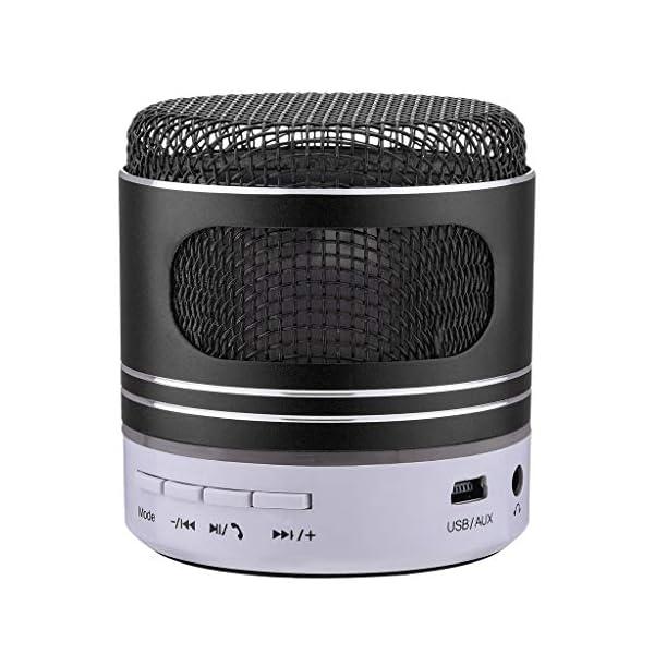 zycShangMini Bluetooth Président LED USB Lumière sans Fil Portable Boîte à Musique Subwoofer (Noir) 1