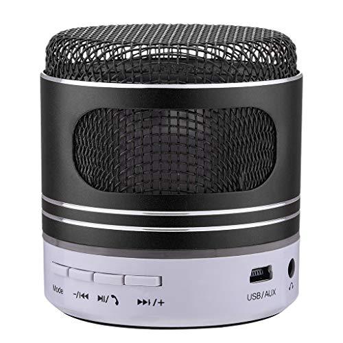Portable Wireless Bluetooth 4.0 Speaker Multicolor Led Light Bluetooth Speaker Non-Slip Base Support IF SD USB (Black)