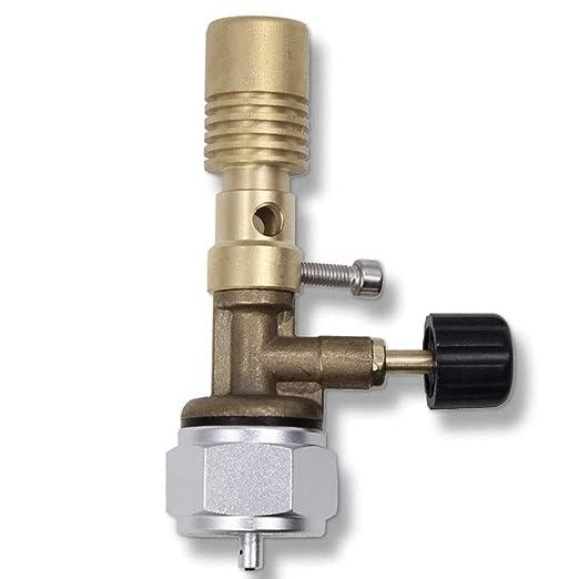 Brass Lab Premium Bunsen quemador combustible por cilindro de combustible de propano con ajuste de gas y aire (MAPP), para barbacoa, camping, cocina, ...