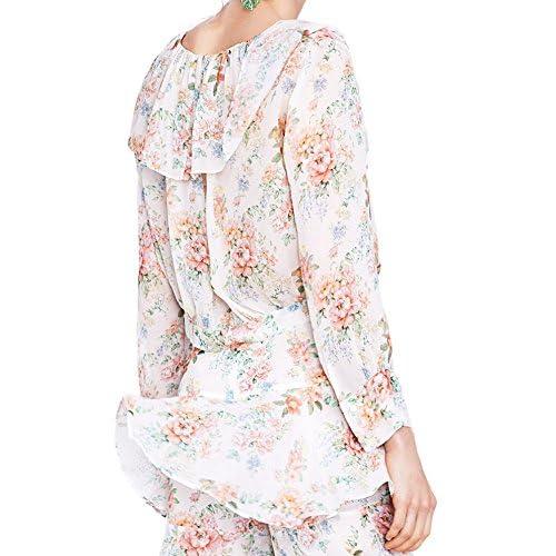modèles à la mode complet dans les spécifications en gros Zara Femme Blouse à Volant Et imprimé Floral 2686/833 ...