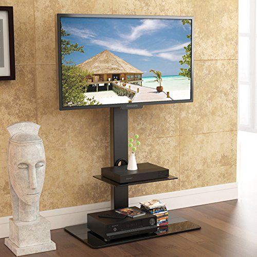 Fitueyes TT207001MB Swivel TV Stand and Mount  for 32-65 Inch (Swivel Tv Stand With Mount compare prices)