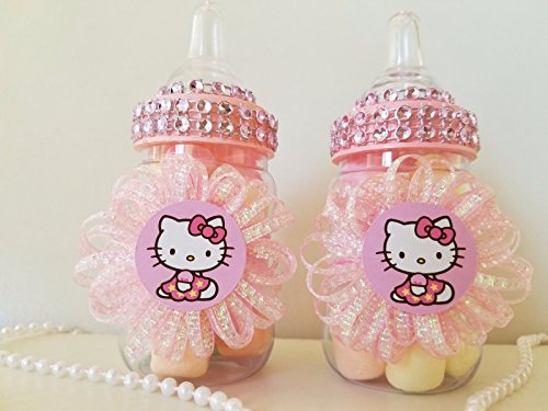 12 Hello Kitty Fillable Bottles Favors Prizes Games Baby Shower Girl Decorations by Product789 (Image #2)