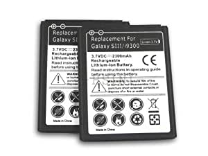 2x New 2300mAh Replacement Battery For SamsungGalaxy S3 S III i9300