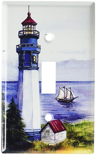 Lighthouse Light Switch Covers - Art Plates - Lighthouse Switch Plate - Single Toggle