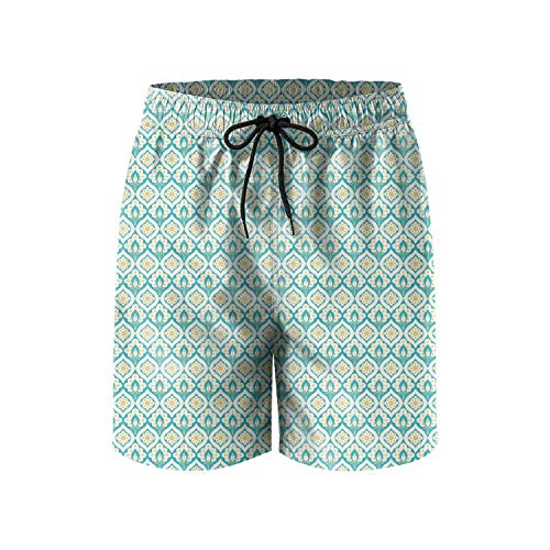 Unique Abstract Peacock Feather Pattern Fashion Mens Beach Board Shorts