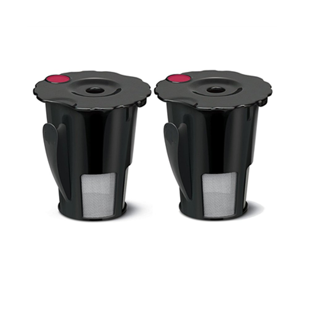 2pcs Coffee Filter Black Reusable Coffee Filter for Keurig 119367 2.0 My K-Cup Updated Model:K200/K300/K400/K500 SERIES,Works with all keurig plus series (2)