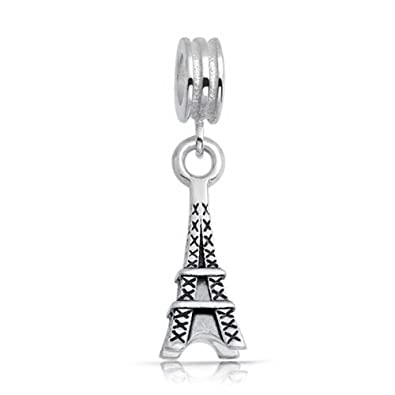 7a1559c50ac81 Antique Styled Sterling Silver Eiffel Tower Dangle Charm Bead