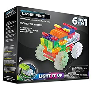 Laser Pegs 6-in-1 Monster Truck Building Set - 51PyTri1ydL - Laser Pegs 6-in-1 Monster Truck Building Set