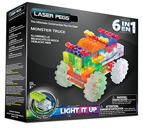 Laser Pegs 6 in 1 Monster Truck Building Set